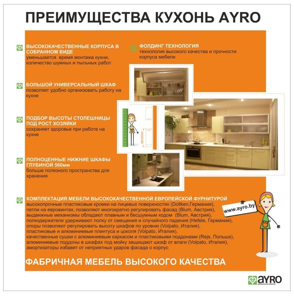 Преимущество наших кухонь AYRO3